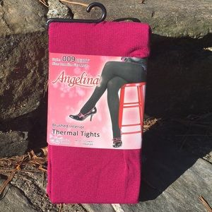 Accessories - Berry Thermal Full Footed Tights